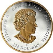 Canada 125 Dollars Tall Ships of Canada 2019 ELIZABETH II CANADA 2019 D • G • REGINA 125 DOLLARS coin obverse