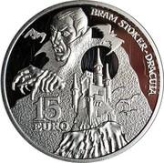 Ireland 15 Euro Dracula's Bram Stoker 2018 BRAM STOKER DRACULA 15 EURO coin reverse