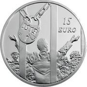 Ireland 15 Euro Dublin Lockout 2013 Proof KM# 77 15 EURO 2013 coin reverse