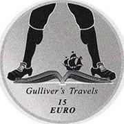 Ireland 15 Euro Gulliver's Travels 2017  GULLIVER'S TRAVELS 15 EURO coin reverse