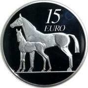 Ireland 15 Euro Horse 2010 Proof KM# 64 15 EURO coin reverse
