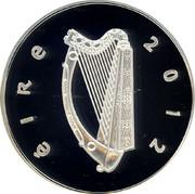 Ireland 15 Euro Irish Wolfhound 2012 Proof KM# 72 ÉIRE 2012 coin obverse