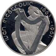 Ireland 15 Euro Ivan Mestrovic 2007 Proof KM# 52 IVAN MEŠTROVIC 1883. - 1962. coin reverse