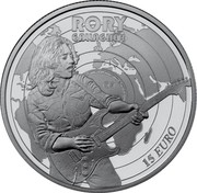 Ireland 15 Euro Rory Gallagher 2018 RORY GALLAGHER 15 EURO coin reverse