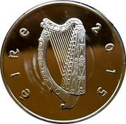 Ireland 15 Euro William Butler Yeats 2015 Proof KM# 86 ÉIRE 2015 coin obverse