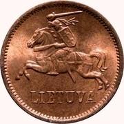 Lithuania 2 Centai 1936 KM# 80 Republic LIETUVA coin obverse