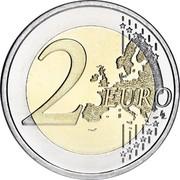 Ireland 2 Euro 10 Years of Euro Cash 2012 KM# 71 2 EURO LL coin reverse
