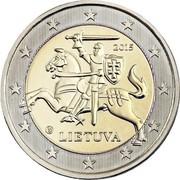 Lithuania 2 Euro 2015 LMK KM# 212 Euro Coinage 2015 LIETUVA coin obverse