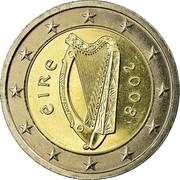 Ireland 2 Euro 2nd map 2008 KM# 51 ÉIRE 2008 coin obverse