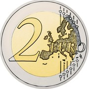 Ireland 2 Euro 30th Anniversary of the Flag of Europe 2015 KM# 84 2 EURO LL coin reverse