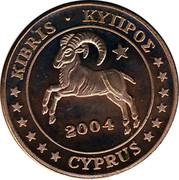 Cyprus 2 Euro Cent Probe trial prueba 2004 UNC X# Pn2 KIBRIS • ΚΥΠΡΟΣ 2004 CYPRUS coin obverse