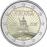 Ireland 2 Euro Easter Rising 2016 KM# 88 HIBERNIA 1916 2016 ÉIRE 2016 coin obverse