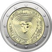 Lithuania 2 Euro (Lithuanian Multipart Songs) LIETUVA LP SUTARTINĖS LMK 2019 coin obverse