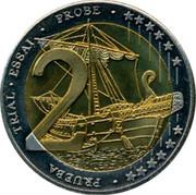Cyprus 2 Euro Prueba Trial 2004 UNC X# Pn7 • PRUEBA TRIAL • ESSAI • PROBE • 2 coin reverse