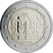 Lithuania 2 Euro (Song and Dance Celebration) 2018 LMK LIETUVA coin obverse