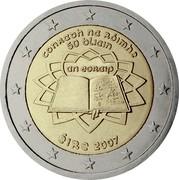 Ireland 2 Euro Treaty of Rome 2007 KM# 53 CONRADH NA RÓIMHE 50 BLIAIN AN EORAIP ÉIRE 2007 coin obverse