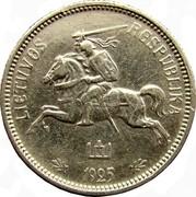Lithuania 2 Litai 1925 KM# 77 Republic LIETUVOS RESPUBLIKA 1925 coin obverse