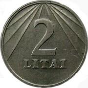 Lithuania 2 Litai 1991 KM# 92 Reform Coinage 2 LITAI coin reverse