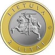 Lithuania 2 Litai Birstonas 2012 KM# 183.1 LIETUVA LMK 2 LITAI coin obverse