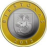 Lithuania 2 Litai Birstonas 2012 KM# 183.1 BIRŠTONAS 2012 coin reverse