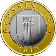 Lithuania 2 Litai Druskininkai 2012 KM# 184.1 DRUSKININKAI 2012 coin reverse