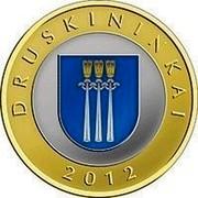 Lithuania 2 Litai Druskininkai 2012 Proof KM# 184.2 DRUSKININKAI 2012 coin reverse