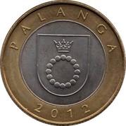 Lithuania 2 Litai Palanga 2012 KM# 186.1 PALANGA 2012 coin reverse