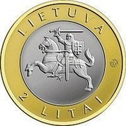 Lithuania 2 Litai Palanga 2012 Proof KM# 186.2 LIETUVA LMK 2 LITAI coin obverse