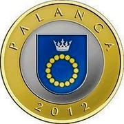 Lithuania 2 Litai Palanga 2012 Proof KM# 186.2 PALANGA 2012 coin reverse