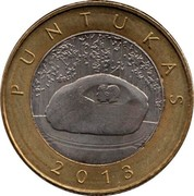 Lithuania 2 Litai Puntukas 2013 KM# 189 PUNTUKAS 2013 coin reverse