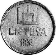 Lithuania 2 Litai Smetona Pattern 1938 KM# Pn11 LIETUVA 1938 coin reverse