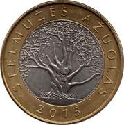 Lithuania 2 Litai Stelmuzes Azuolas 2013 KM# 190 STELMUŽĖS AŽUOLAS 2013 coin reverse
