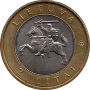 Lithuania 2 Litai Verpste 2013 KM# 187 LIETUVA LMK 2 LITAI coin obverse