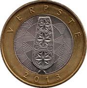 Lithuania 2 Litai Verpste 2013 KM# 187 LIETUVA 2 LITAI LMK coin reverse