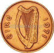 Ireland 2 Pence 1971 KM# 21 Decimal Coinage coin obverse
