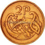 Ireland 2 Pence 1971 KM# 21 Decimal Coinage coin reverse