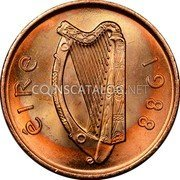 Ireland 2 Pence 1988 KM# 21a Decimal Coinage coin obverse