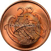 Ireland 2 Pence 1988 KM# 21a Decimal Coinage coin reverse