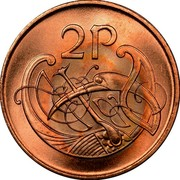 Ireland 2 Pence Magnetic 1988 KM# 21a 2 P coin reverse