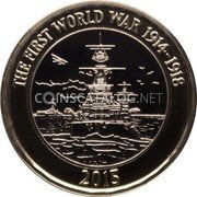 UK 2 Pounds (100th anniversary of the First World War) THE FIRST WORLD WAR 1914-1918 DR 2015 coin reverse