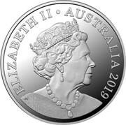 Australia 20 Cents Platypus 2019  ELIZABETH II AUSTRALIA 2019 JC coin obverse