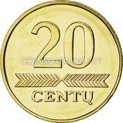 Lithuania 20 Centu 2009 Prooflike KM# 107 Reform Coinage coin obverse