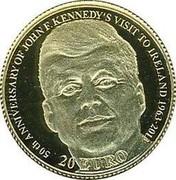 Ireland 20 Euro 50th Anniversary of President John F. Kennedy's visit to Ireland 2013 Proof KM# 79 50TH ANNIVERSARY OF JOHN F. KENNEDY'S VISIT TO IRELAND 1963 - 2013 20 EURO coin reverse