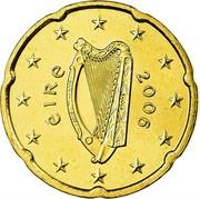 Ireland 20 Euro Cent 1st map 2006 Proof KM# 36 ÉIRE 2006 coin obverse