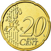 Ireland 20 Euro Cent 1st map 2006 Proof KM# 36 20 EURO CENT LL coin reverse
