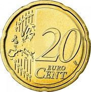 Ireland 20 Euro Cent 2nd map 2009 Proof KM# 48 20 EURO CENT LL coin reverse