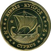 Cyprus 20 Euro Cent Trial prueba muster 2004 UNC X# Pn5 ΚΥΠΡΟΣ • KIBRIS 20 04 CYPRUS coin obverse