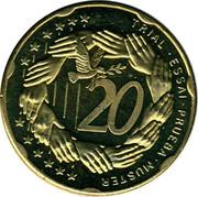 Cyprus 20 Euro Cent Trial prueba muster 2004 UNC X# Pn5 TRIAL • ESSAI • PRUEBA • MUSTER 20 coin reverse