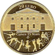 Ireland 20 Euro Gaisce 2010 Proof KM# 66 20 EURO GAISCE 25 YEARS coin reverse