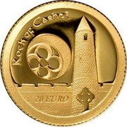 Ireland 20 Euro Medieval Irish Architecture 2013 Proof KM# 76 ROCK OF CASHEL 20 EURO coin reverse